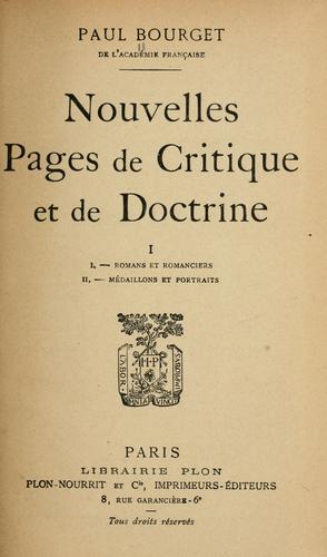 Download Nouvelles pages de critique et de doctrine.