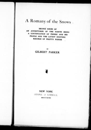 Download A Romany of the snows