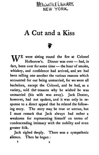 A Cut and a Kiss