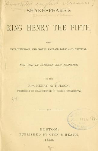 Download Shakespeare's King Henry the Fifth.