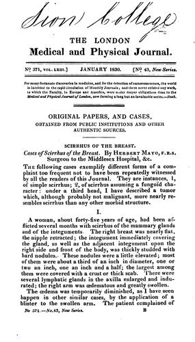 An appeal to the medical profession, on the utility of the improved patent syringe, with …