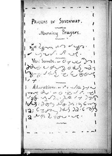 Prayers in Shushwap