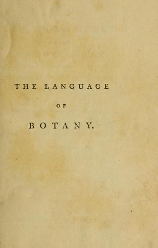 Download The language of botany