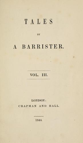 Tales by a barrister.