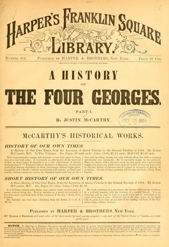 A history of the four Georges …