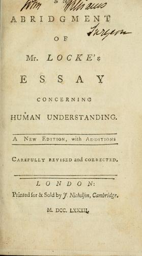 Download An abridgment of Mr. Locke's Essay concerning human understanding .