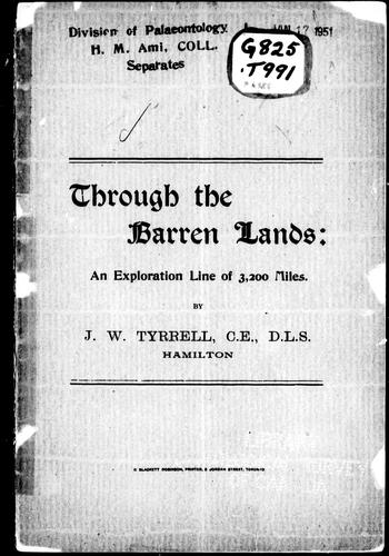 Through the barren lands by J. W. Tyrrell