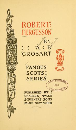 Download Robert Fergusson