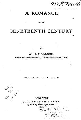 A Romance of the Nineteenth Century