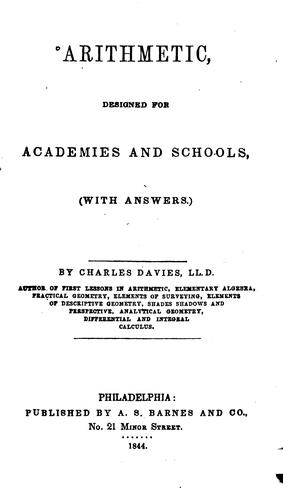 Arithmetic, Designed for Academies and Schools: With Answers