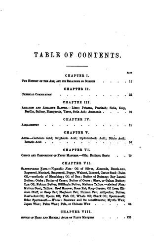 A Treatise on Chemistry Applied to the Manufacture of Soap and Candles …