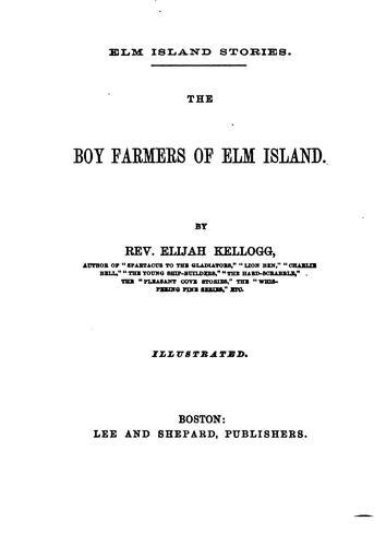 … The Boy Farmers of Elm Island