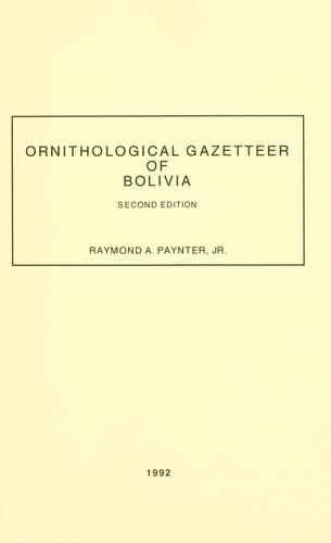 Ornithological gazetteer of Bolivia