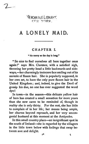 A Lonely Maid by Margaret Wolfe Hamilton Hungerford