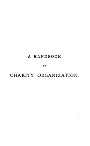 A Handbok of Charity Organization by Stephen Humphreys Villiers Gurteen
