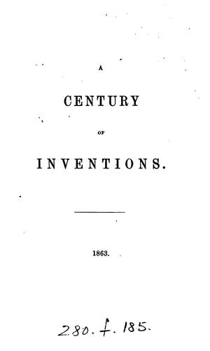 A century of inventions by Edward Foss