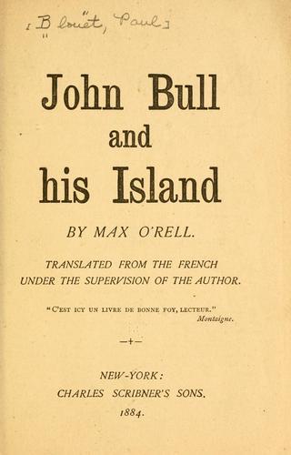 John Bull and his island