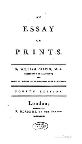 An Essay on Prints by William Gilpin