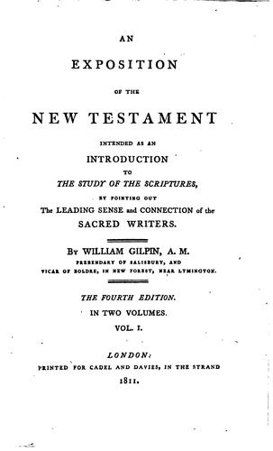 An exposition of the New Testament by William Gilpin