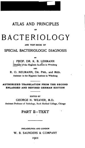Atlas and principles of bacteriology v.2 by Karl Bernhard Lehmann