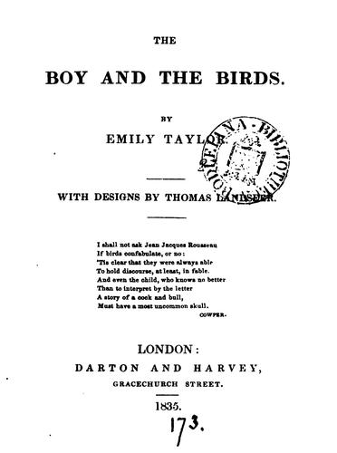 The boy and the birds, with designs by T. Landseer by Emily Taylor