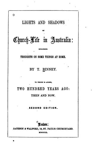 Church-life in Australia: With Two Hundred Years Ago by Thomas Binney
